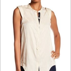 Cream silk Zadig Voltaire sleeveless blouse